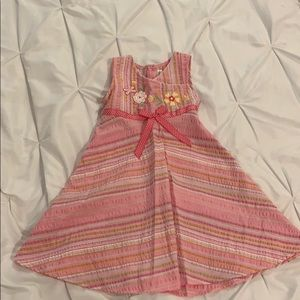 Girls Youngland Pink Summer Dress sz 5